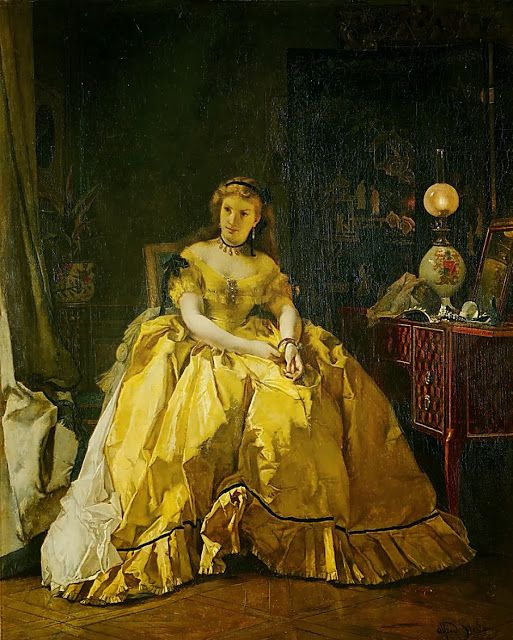 In the Swan's Shadow: After the Ball, by Alfred Stevens