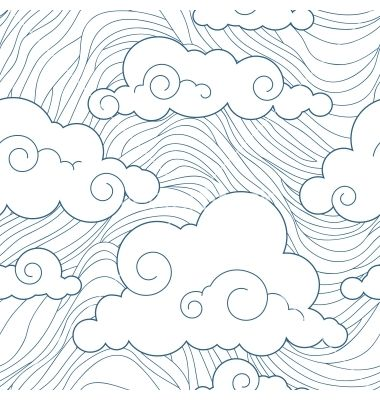 Seamless stylized clouds pattern vector 1156384 - by JMcreation on VectorStock®