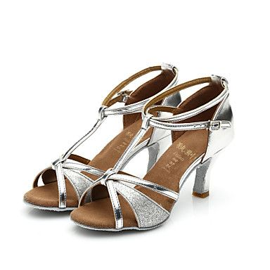 Zapatos de baile ( Negro / Marrón / Rojo / Plata / Oro ) - Latino / Salsa / Samba - Personalizables - Tacón Personalizado 4690659 2016 – €19.00