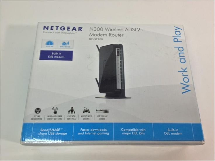 Annons på Tradera: Netgear, N300 Wireless ADSL2  Modem Router