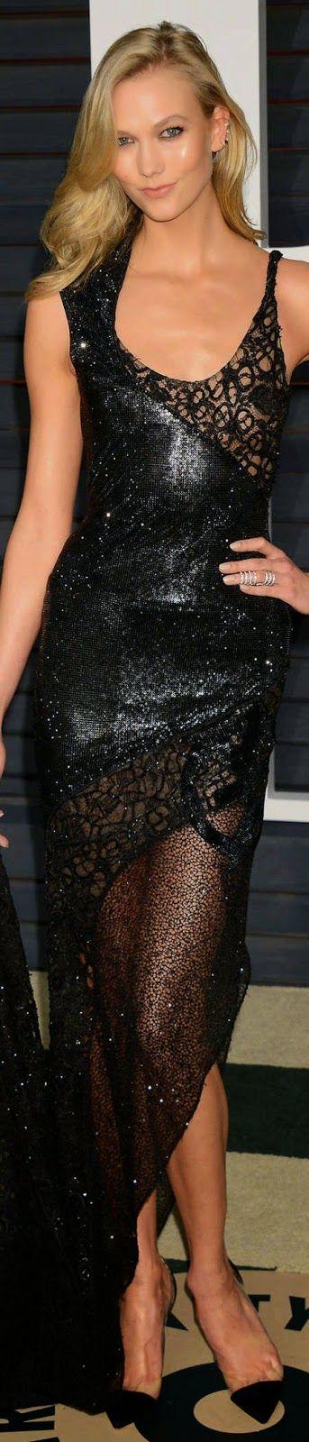 Karlie Kloss 2015 Vanity Fair Oscar Party / Karlie Kloss in Atelier Versace