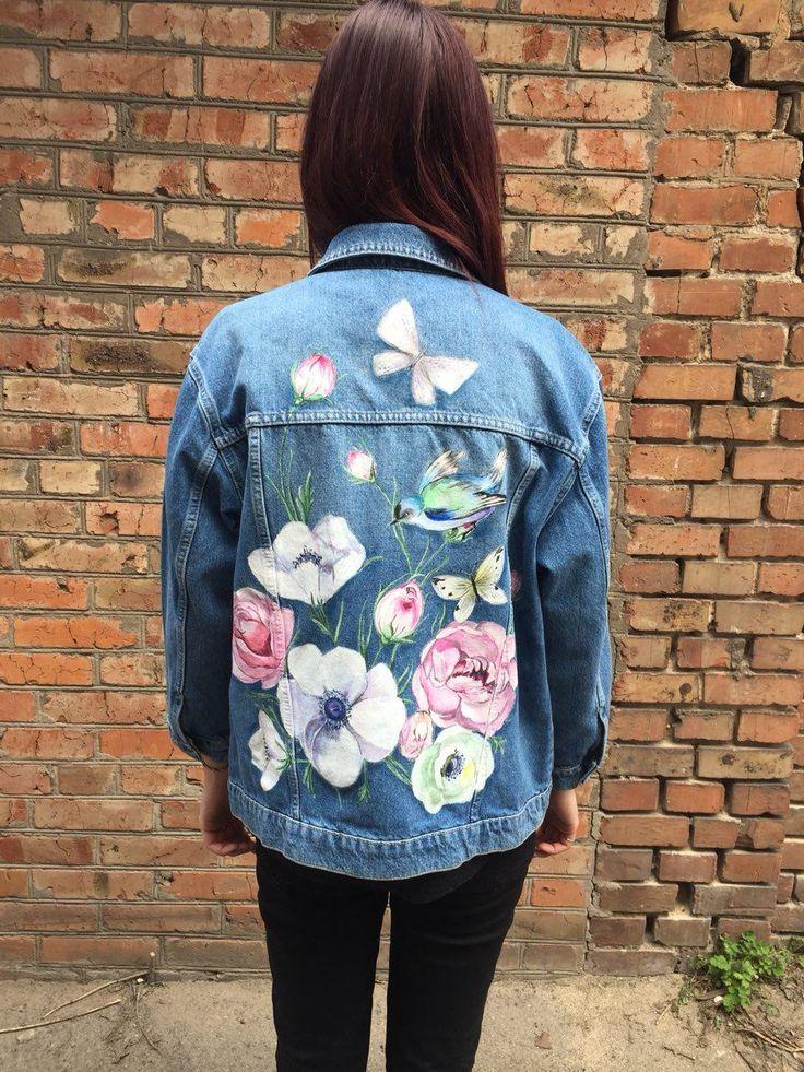 манера рисунок на джинсовой куртке акриловыми красками многие предпочитают