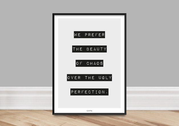 Originaldruck - Kunstdruck Poster / Chaos - ein Designerstück von typealive bei DaWanda
