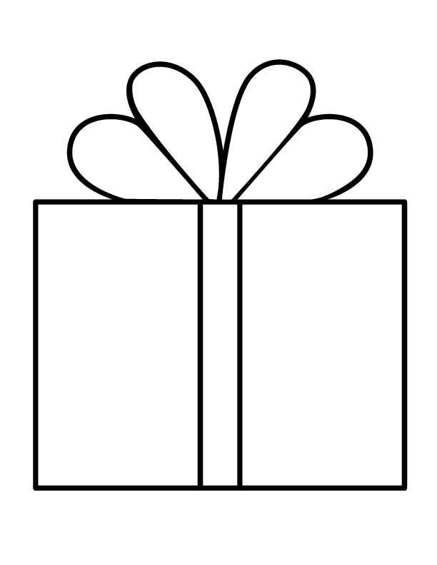 Gift And Presents Coloring Pages For Kids Christmas Present