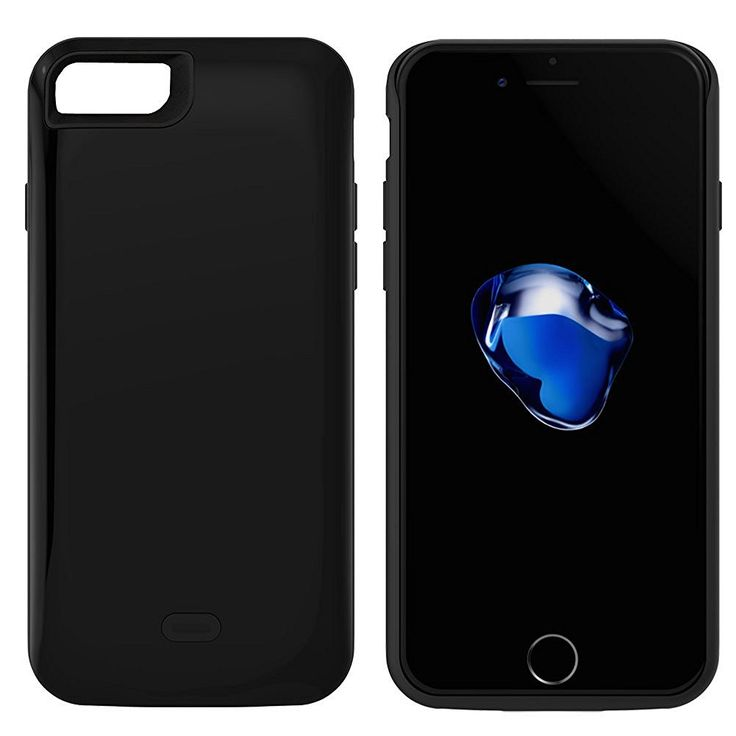 Black coloured charger case for iphone 7 7 plus mobile phone cases