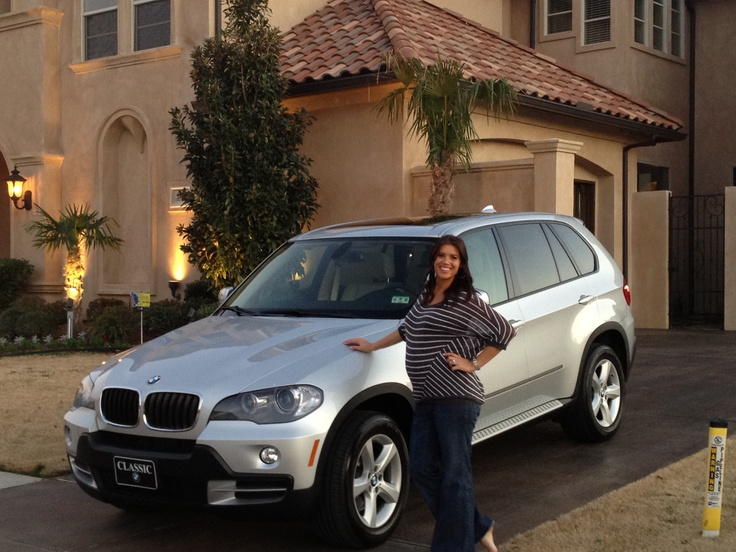 We got this picture from Jefferson Santos (@JeffersonSantos), one of our top income earners. This is a pic of his lovely wife Megan Santos with her new BMW X5! She's about to hit Director and this is her new car, courtesy of Wings & Wheels! #WorldVentures #WingsWheels