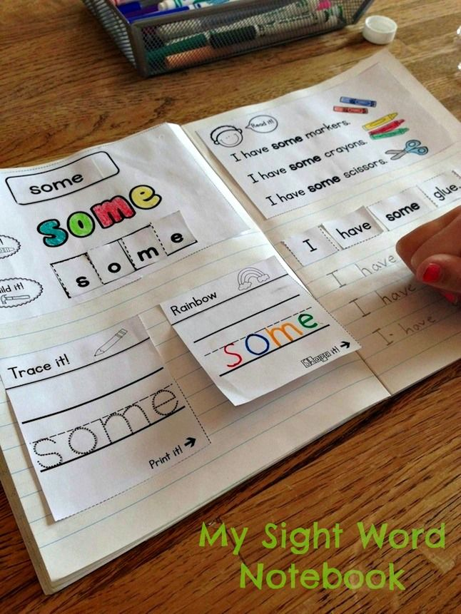 This interactive notebook provides a variety of ways for your students to practice their sight words. No more loose papers! Your students will have all their sight word work together in one place as a handy reference.