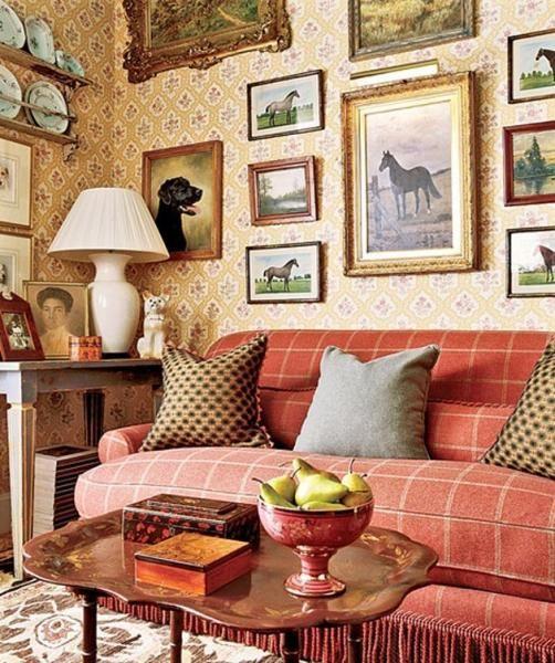 Фото гостиной в английском стиле