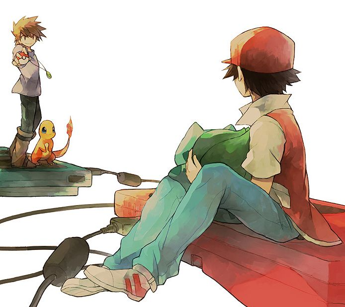 """""""The Red and the Green"""" by Hana on pixiv.net"""