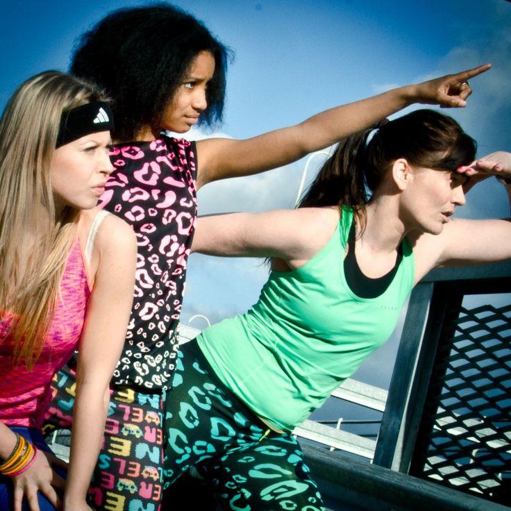 Gekleurde hardloopleggings - Stoere Vrouwen Sporten