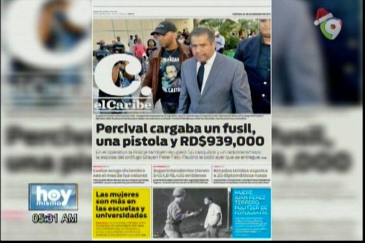 """Portada De Los Periódicos Del Día De Hoy: """"Percival Matos"""""""