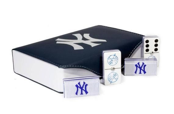 New York Yankees Domino Game Set Double 6 Jumbo Size Dominoes Baseball Dominos Father Dad Husband Ma