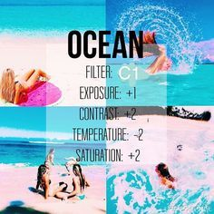 Hey guys this is a new filter acc I will be telling u guys tips on editing for free on vsco cam - good for beachy and water…