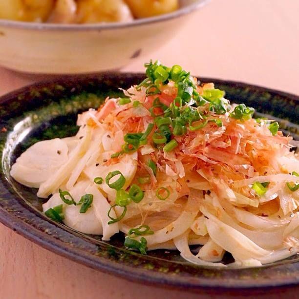 マヨぽんオニオンスライスサラダ  |  あさこ食堂
