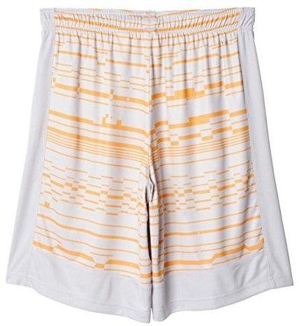 adidas Men's Climacore Print Shorts, XX-Large, Light Grey Heather/Solar Gold/Light Grey Heather