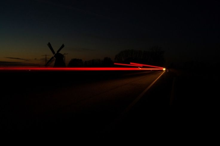 Windmill, Traffic, Car Lights, Lights, Night, Dark Photo - Visual Hunt