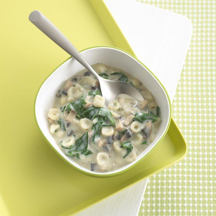 Mushrooms & Spinach Pasta