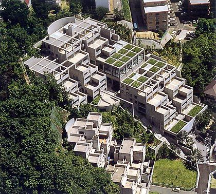 Tadao Ando - Rokko Housing, 1981-83,  Kobe, Hyogo, Japan