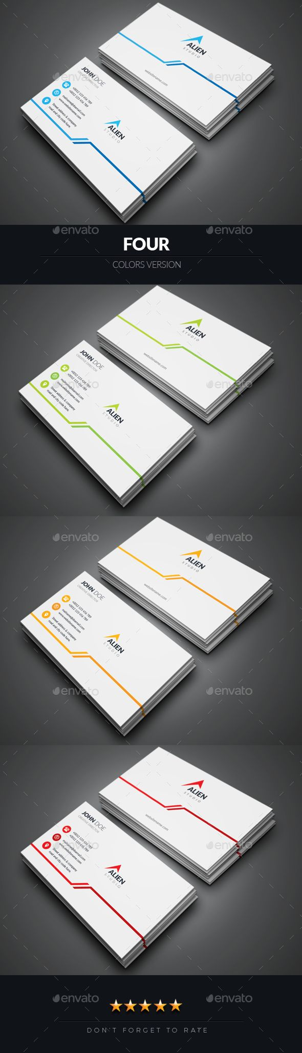 #Business Card - #Corporate Business #Cards Download here: https://graphicriver.net/item/business-card/18981133?ref=alena994