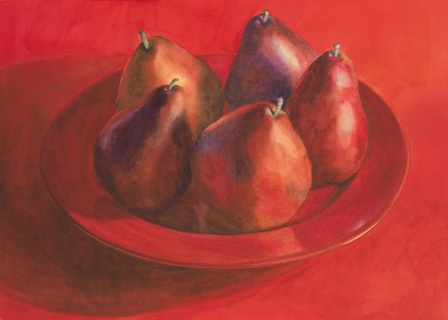 Study in Red Pears by MaryAnn Free Smith