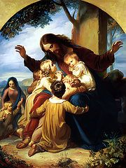 Jesus Paintings - Let the Children Come to Me by Carl Vogel von Vogelstein