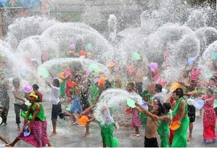 The Songkran water Festival, Thailand, April 13-15