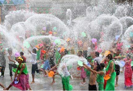 The Songkran water Festival, Thailand, April 13-15