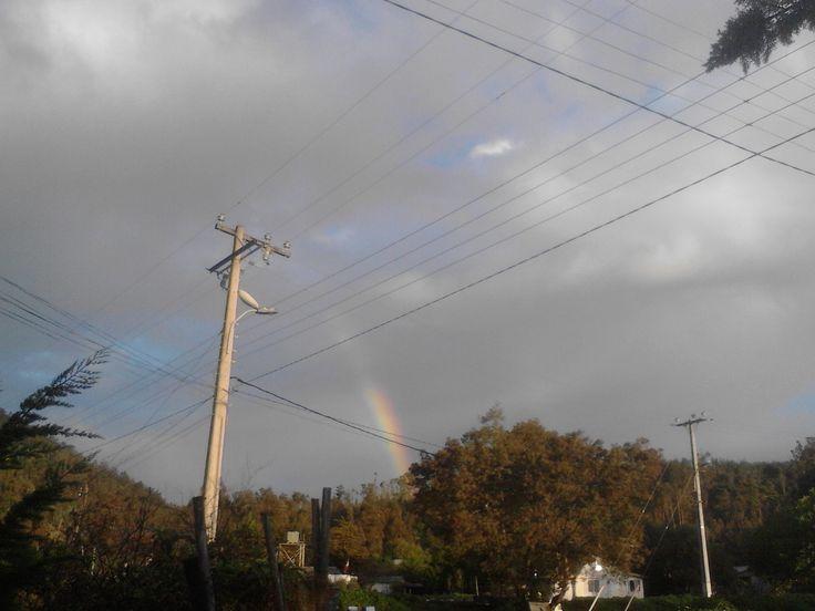 Nubes y arco iris, Laguna Verde, Valparaiso