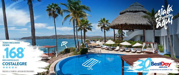 Ubicado en las playas de Bahía de #Tenacatita en #Costalegre, es un exclusivo hotel Todo Incluido Sólo para Adultos, donde se conjuga un servicio personalizado, exquisita gastronomía, extensa gama de actividades recreativas y servicios, así como 24 invitantes y espaciosas habitaciones con vista al mar, cuenta con actividades de yoga, tour en lancha por los manglares, excursión a caballo, temazcal y espectáculos en el hotel hermano, Los Ángeles Locos. #OjalaEstuvierasAqui #BestDay