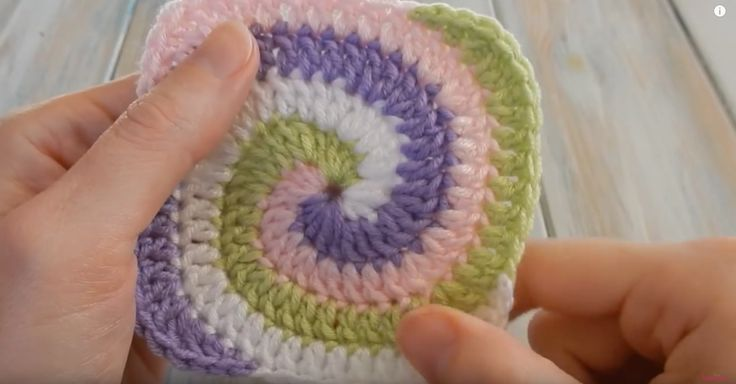 The Spiral Granny Square Is A Fun Change To A Classic Pattern