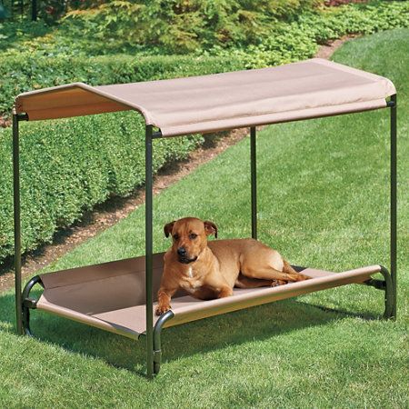 heavy duty elevated pet bed u0026 shade make my own out of pvc