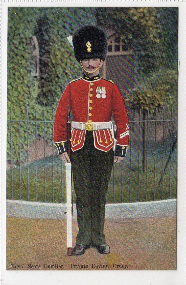 ROYAL SCOTS FUSILIER: Military postcard (C12510)