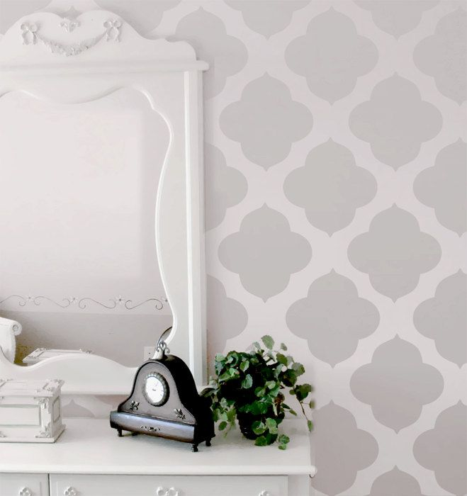 Wall Stencil Moroccan Allover Pattern Wall Room by OMGstencils