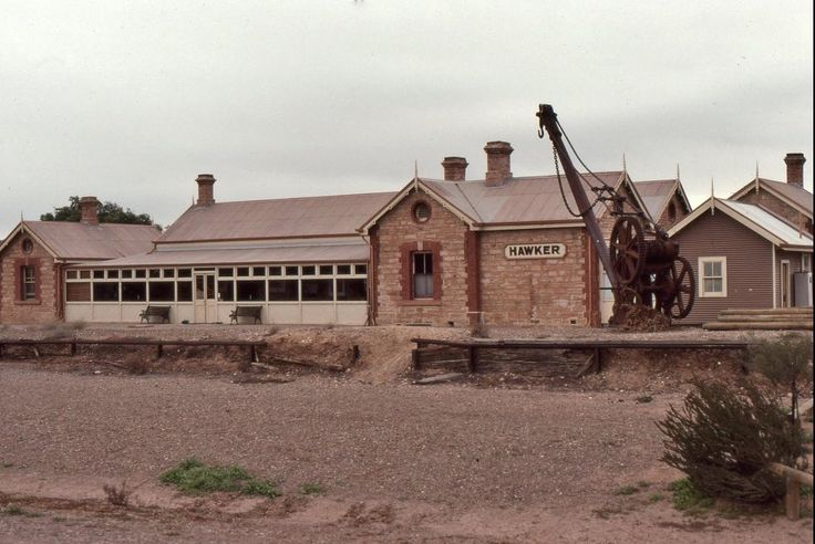 Today's historic photo of the day: The former railway station at Hawker, SA, August 1991.  On the original 'Ghan' line, this closed in 1970.