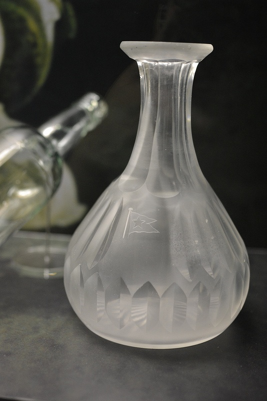 Cut crystal carafe from the Titanic wreck