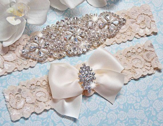 Petite / Plus Size Garter Belt wedding garter by FifthAvenueBridal