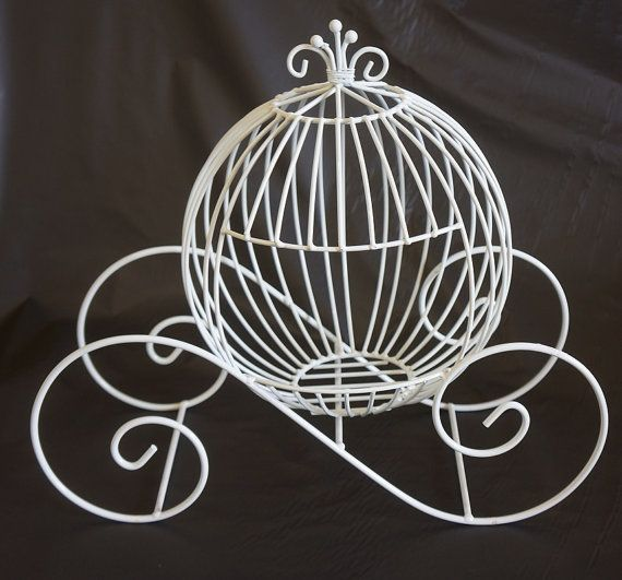 Wire cinderella carriage for weddings, events, proms, decoration, parties, centerpieces, picnics on Etsy, $12.99