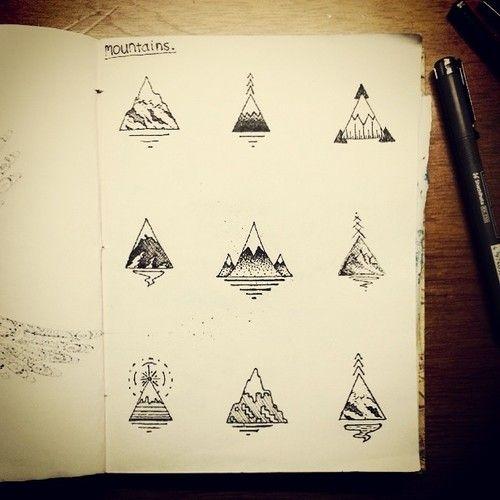 https://www.behance.net/gallery/23479693/3x3-Sketch-Book - by James Mckenzie #Tattoo ideas #Mountain. Warum nicht mal ein #Berg als Tattoo?