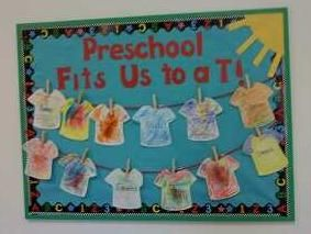 Summer Back To School Preschool Bulletin Board Idea