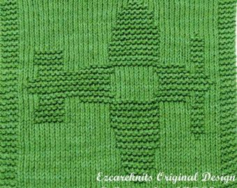 Knitting Cloth Pattern  BLOSSOM  PDF por ezcareknits en Etsy