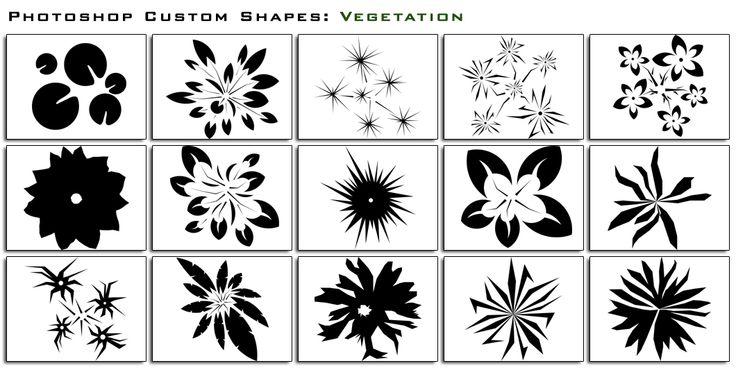 Custom Shapes Vegetation by thesuper.deviantart.com on @deviantART