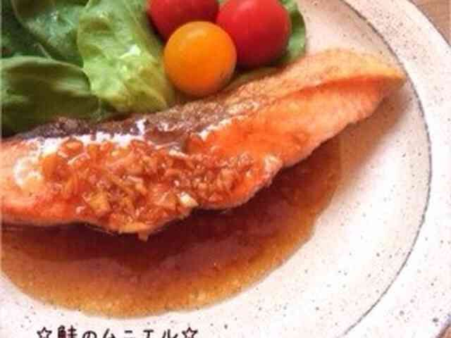 ☆鮭のムニエル☆濃厚にんにくバター醤油の画像
