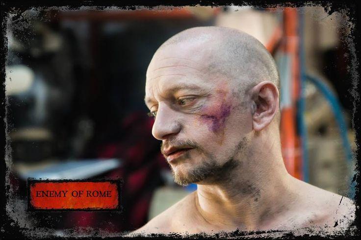 Make-up on actor Sylvano Harvey for Vitellius in Enemy of Rome