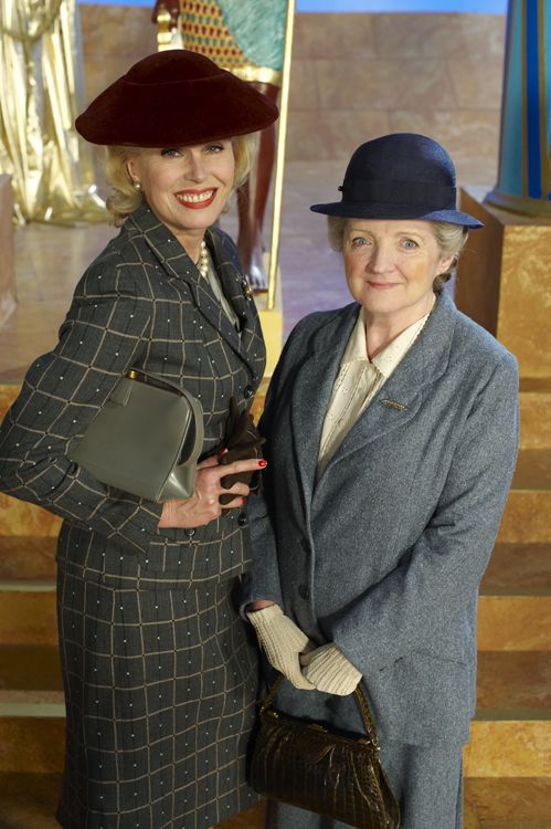 The lovely Joanna Lumley and Julia McKenzie in Agatha Christie's Marple, now streaming on www.acorn.tv!