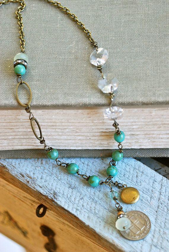 Kate. bohemian style,keepsake ,crystal,rhinestone,locket necklace. Tiedupmemories