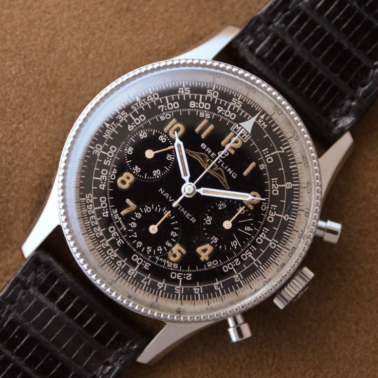 Early black dial Breitling chronograph