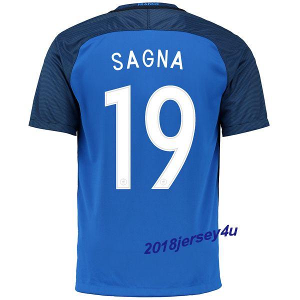 Bacary Sagna 19 UEFA Euro 2016France Home Jersey
