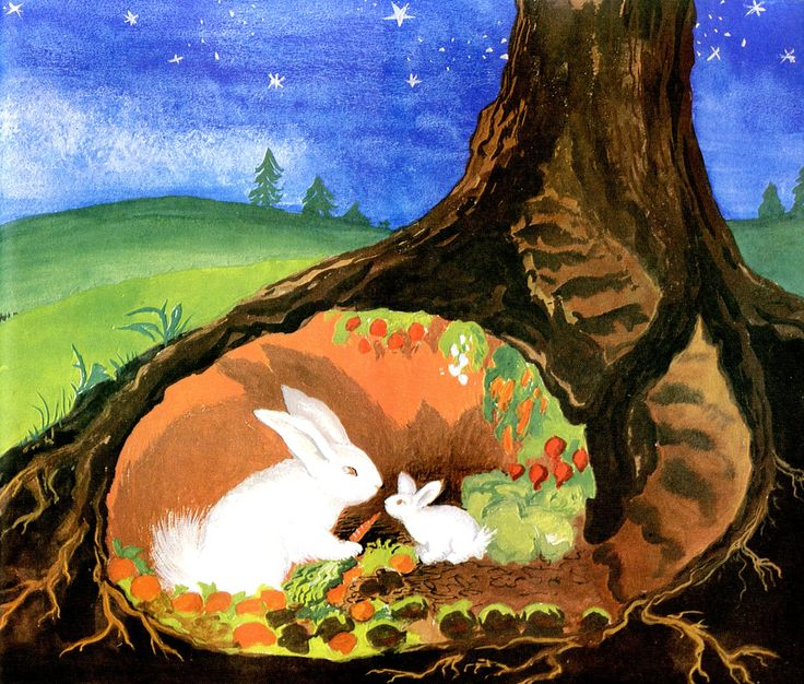 """Runaway Bunny by Margaret Wise Brown """"I might just as well stay where I am and be your little bunny."""""""