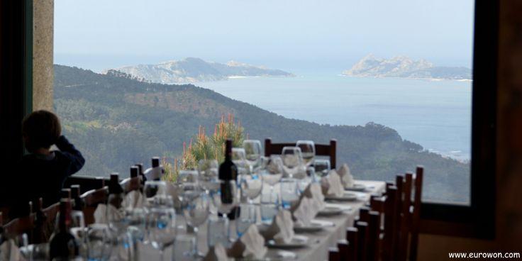 Mirador do Cepudo, buena comida y excelentes vistas de Vigo y su ría.