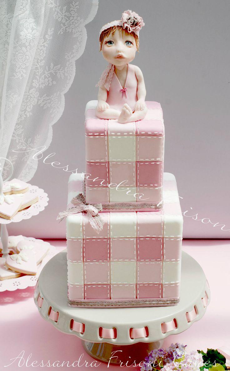 Baptism Cake . Frisoni Alessandra Studio Cake